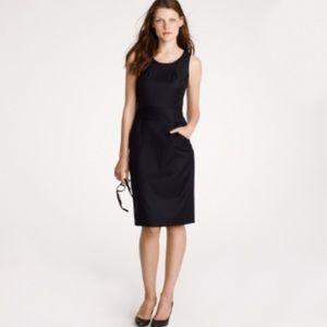 J Crew Emmaleigh Black Sleeveless Wool Dress 4T